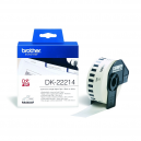 Brother DK-22214 White Continuous Length Paper Tape 12mm x 30.48m, Black on White