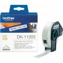 Brother DK-11203 File Folder Labels, 17mm x 87mm, 300 labels per roll, Black on White