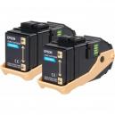Epson AL-C9300N Double Pack Toner Cartridge Cyan, 7.5k x2