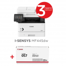 Canon i-SENSYS MF445dw Printer/Scanner/Copier/Fax + Canon CRG-057 + Canon Recycled paper Zero A4 (кутия)