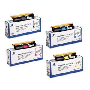 Зареждане на тонер касета Konica Minolta  2400 Cyan + смяна на чип