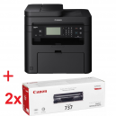 Canon i-SENSYS MF237w Printer/Scanner/Copier/Fax + 2x Canon CRG-737