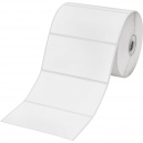 Brother BDE-1J050102-102 White Paper Label Roll, 1050 labels per roll, 102x50 mm (Order Multiples of 8)