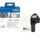 Brother DK-11234 Adhesive Visitor Badge Label Roll – Black on White, 60mm x 86mm