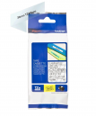 Brother TZe-M65 Matt Laminated Labelling Tape Cassette – White On Clear, 36mm wide
